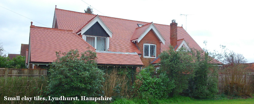 Small clay tiles, Lyndhurst, Hampshire