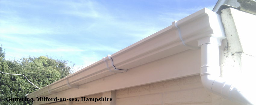 Guttering, Milford-on-sea, Hampshire